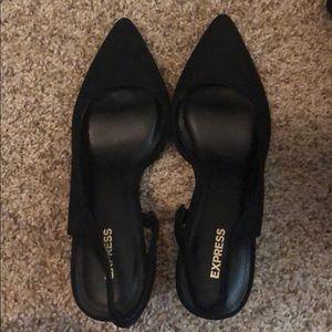 Express black high heels